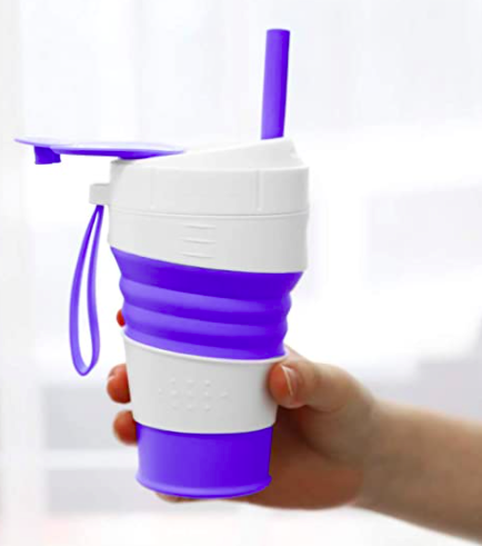 MoKo collapsible cup with straw